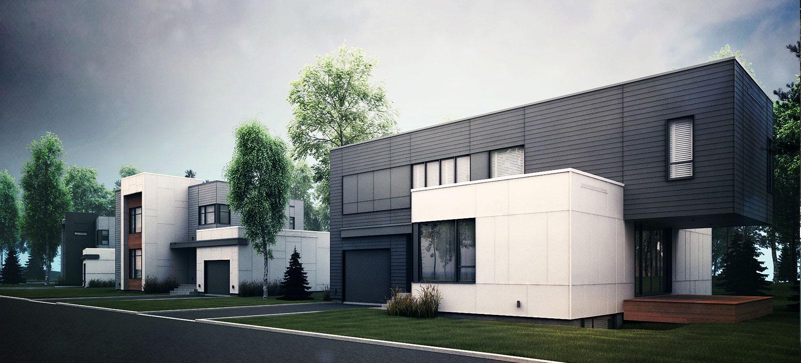 Maison style quebecoise for Projet maison contemporaine