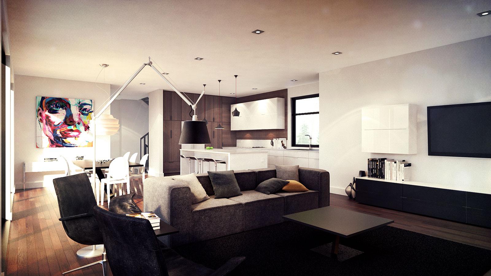 Mod le c le projet zone c r sidence dans un quartier for Architecture quebecoise